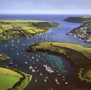 aerial image salcombe east portlemouth kingsbridge