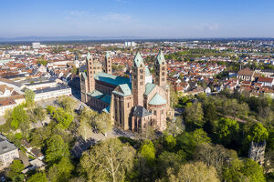 aerial speyer cathedral unesco world heritage site