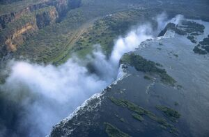 Aerial view of Victoria Falls, Zimbabwe, Africa