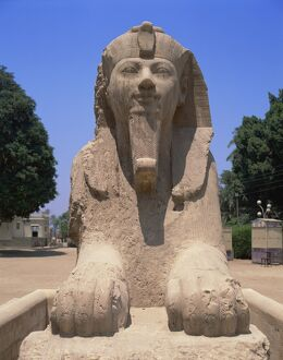 The alabaster Sphinx of Amon-Ofis II, Memphis, Egypt, North Africa, Africa