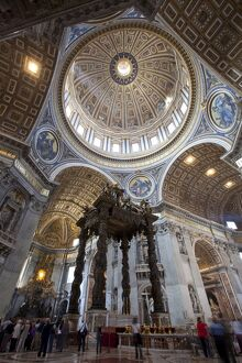 The altar with Bernini's baldacchino, St. Peter's Basilica, Vatican City