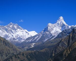 Ama Dablam and Lhostche mountains