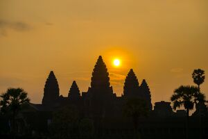 Angkor Wat at sunrise, UNESCO World Heritage Site, Siem Reap Province, Cambodia, Indochina