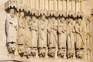 The Apostles, Amiens Cathedral, UNESCO World Heritage Site, Amiens, Somme, France, Europe