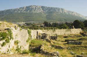 Archaeological ruins of the ancient city of Solin (known as Salona by the Romans)