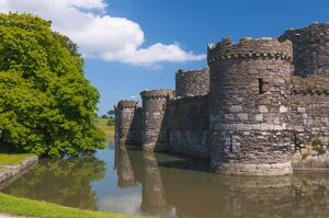Beaumaris Castle, UNESCO World Heritage Site, Beaumaris, Anglesey, Gwynedd, Wales, United Kingdom, Europe