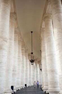 Bernini's 17th century colonnade, Piazza San Pietro (St. Peter's Square), Vatican City