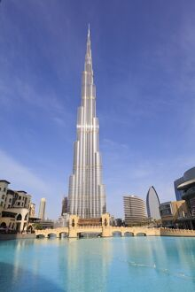 Burj Khalifa, the tallest man made structure in the world at 828 metres