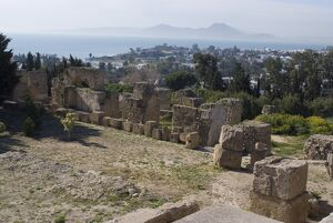 Byrsa Hill, looking down on the ancient port at the original Punic site at Carthage