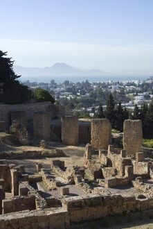 Byrsa Hill, the original Punic site at Carthage, UNESCO World Heritage Site