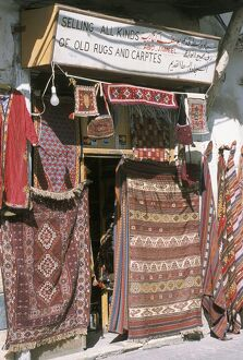 Carpets for sale in the market
