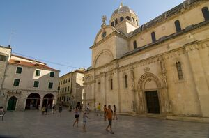 The Cathedral of St. James, UNESCO World Heritage Site, Sibenik, Croatia, Europe