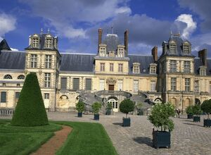 The Chateau at Fontainebleau, UNESCO World Heritage Site, Seine-et-Marne in France