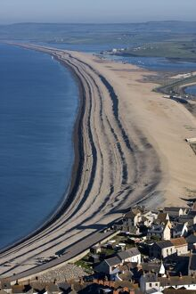 Chesil Beach and The Fleet Lagoon, Weymouth, Dorset, England, United Kingdom, Europe