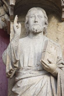 Christ sculpture known as Beau Dieu d'Amiens, Amiens Cathedral, UNESCO World Heritage Site