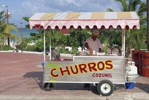 A churros seller