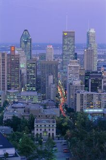 City skyline, Montreal, Quebec Province, Canada, North America