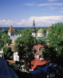 City view from Toompea, Tallinn, Estonia, Baltic States, Europe
