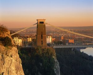 clifton suspension bridge avon bristol england