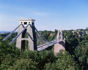 clifton suspension bridge bristol avon england