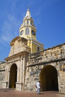 The Clock Tower, Old Walled City District, Cartagena City, Bolivar State