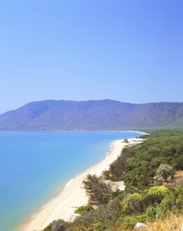 The coast between Cairns and Port Douglas on the Cook Highway, Queensland, Australia
