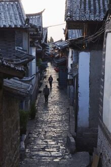cobbled streets lijiang old town unesco world