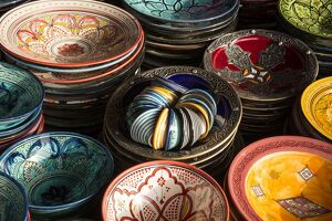 colourful bowls old souk old medina marrakesh
