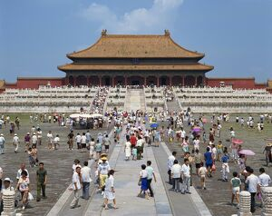 Crowds before the Hall of Supreme Harmony, Imperial Palace, Forbidden City