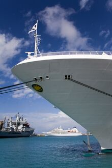 Cruise ships, Bridgetown Port, Barbados, West Indies, Caribbean, Central America
