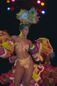 Dancer, Tropicana Cabaret, Havana, Cuba, West Indies, Central America