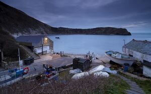 Dawn at Lulworth Cove, Jurassic Coast, UNESCO World Heritage Site, Dorset