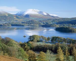 Derwent Water, with Blencathra behind, Lake District, Cumbria, England