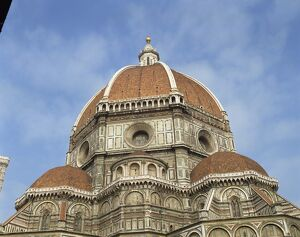 The dome of the Duomo in the town of Florence