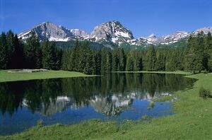 Durmitor mountain range, near Zabljak, Durmitor National Park, UNESCO World Heritage Site, Tramontana, Montenegro, Europe
