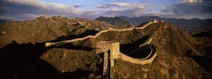 Elevated panoramic view of the Jinshanling section, Great Wall of China
