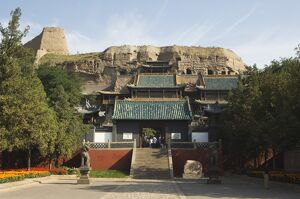 Entrance hall at Yungang Caves cut during the Northern Wei Dynasty in 460 AD