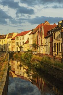 Evening scene in the old town of Wismar, Mecklenburg-Vorpommern, Germany, Baltic Sea, Europe