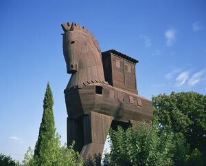 Exterior of the replica Trojan Horse