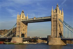 Exterior of Tower Bridge over the River Thames, London, England, United Kingdom, Europe