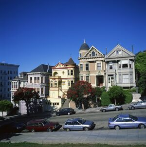 The famous Victorian houses known as the Painted Ladies