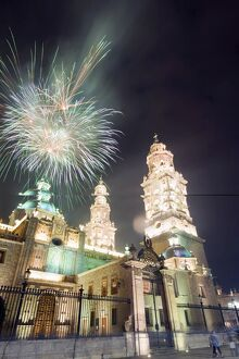 firework display cathedral morelia unesco world