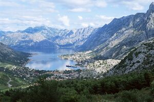 Fjord and town of Kotor
