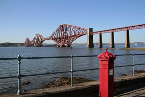 Forth Bridge over the Firth of Forth, South Queensferry, Scotland, United Kingdom, Europe