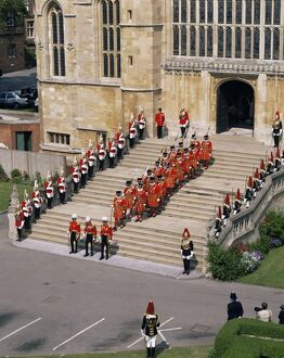 Garter ceremony, St. George's Chapel, Windsor Castle, Berkshire, England