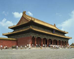 The Gate of Heavenly Purity in the Imperial Palace in the Forbidden City in Beijing