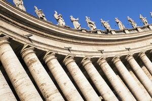 Gian Lorenzo Bernini's 17th century colonnade and statues of saints