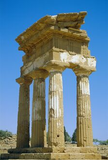 Greek temple of Castor and Pollux dating from 5th century BC
