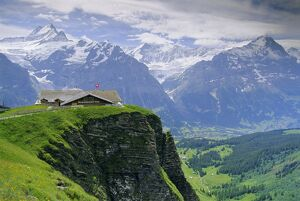 Grindelwald and North face of the Eiger mountain
