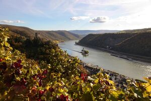 Gutenfels Castle and Pfalzgrafenstein Castle, Kaub, Rhine Valley, Rhineland-Palatinate